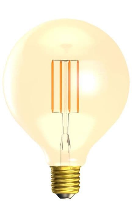 BELL 01472 4W LED Vintage 125mm Globe Dimmable ES Amber 2000K